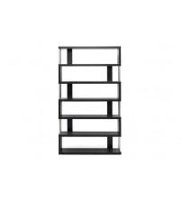 Baxton Studio Fp-6D Barnes Dark Brown Six-Shelf Modern Bookcase