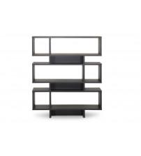 Baxton Studio FP-6DS-Shelf (3A) Cassidy 6-Level Modern Bookshelf in Dark Brown
