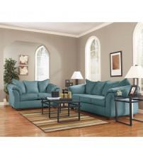Flash Furniture FSD-1109SET-SKY-GG Signature Design by Ashley Darcy Living Room Set in Sky Microfiber