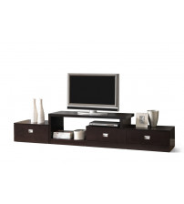 Baxton Studio Ftv-4125 Marconi Brown Asymmetrical Modern Tv Stand