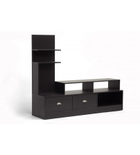 Baxton Studio FTV-906 Armstrong Modern TV Stand in Dark Brown