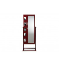 Baxton Studio GLD13358-Brown Vittoria Square Foot Floor Standing Double Door Storage Jewelry Armoire Cabinet