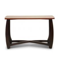 Baxton Studio Hm909-50-Console Straitwoode Cherry And Dark Brown Modern Sofa Table