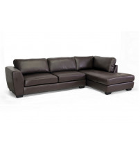 Baxton Studio IDS023-Brown-RFC Orland Sectional Sofa Set with Right Facing Chaise