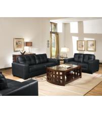 Baxton Studio IDS06LT-Black set Whitney Modern Sofa Set