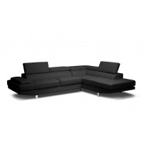 Baxton Studio Ids077P-Black Rfc Selma Modern Sectional Sofa