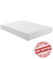 "Modway MOD-5338-WHI Aveline 10"" Queen Mattress in White"