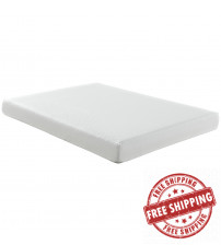 "Modway MOD-5342-WHI Aveline 8"" Full Mattress in White"