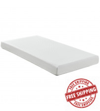 "Modway MOD-5344-WHI Aveline 6"" Twin Mattress in White"