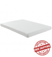 "Modway MOD-5346-WHI Aveline 6"" Queen Mattress in White"