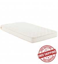 "Modway MOD-5560-WHI Emma 6"" Twin Mattress in White"