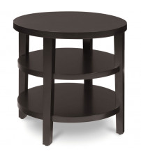 "Ave Six MRG09 Work Smart Merge 20"" Round End Table in Espresso"
