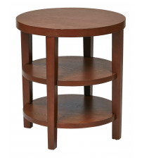 Ave Six MRG09-CHY Merge 20 Round End Table in Cherry