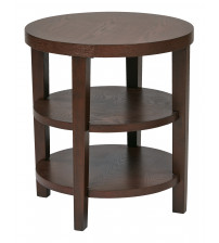Ave Six MRG09-MAH Merge 20 Round End Table in Mahogany