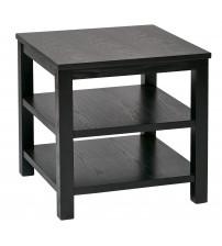Ave Six MRG09S-BK Merge 20 Square End Table Black Finish