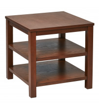 Ave Six MRG09S-CHY Merge 20 Square End Table Cherry Finish