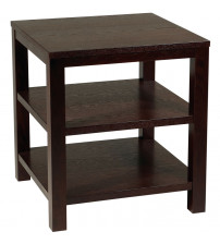 Ave Six Merge 20 Square End Table Espresso Finish