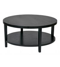 Ave Six MRG12-BK Merge 36 Round Coffee Table Black Finish