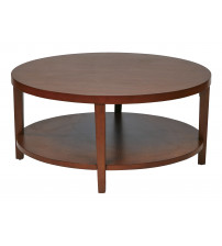 Ave Six MRG12-CHY Merge 36 Round Coffee Table Cherry Finish