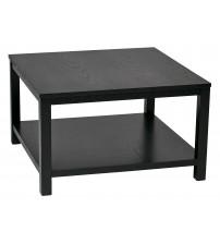 Ave Six MRG12SR1-BK Merge 30 Square Coffee Table Black Finish