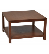 Ave Six MRG12SR1-CHY Merge 30 Square Coffee Table Cherry Finish