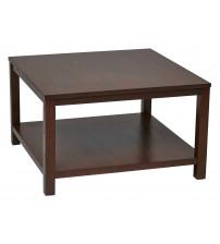 Ave Six MRG12SR1-MAH Merge 30 Square Coffee Table Mahogany Finish