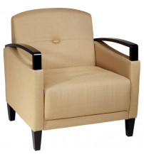 Ave Six MST51-C28 Main Street Woven Wheat Chair with Interlace Weave Fabric and Espresso Finish Wood Accents by Ave Six