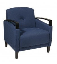 Ave Six MST51-W17 Main Street Woven Indigo Chair with Interlace Weave Fabric