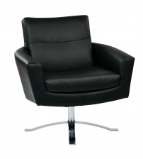 Ave Six NVA51-B18 Nova Chair with Black Faux Leather