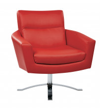 Ave Six NVA51-U9 Nova Chair with Red Faux Leather