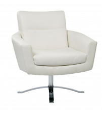 Ave Six NVA51-W32 Nova Chair with White Faux Leather
