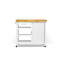 Baxton Studio RT185-OCC Denver Modern Kitchen Cart in White