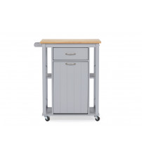 Baxton Studio RT311-OCC Yonkers Contemporary Kitchen Cart with Wood Top
