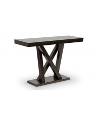 Baxton Studio SA107-Console Table Everdon Modern Sofa Table in Dark Brown
