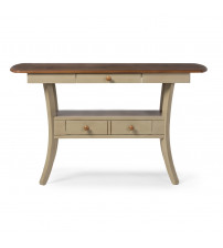 Baxton Studio SAV-13200-Oak/Grey Balmoral Chic Country Cottage and Distressed Fixed Top Server