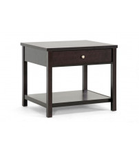 Baxton Studio ST-002-AT Nashua Modern Accent Table and Nightstand in Dark Brown