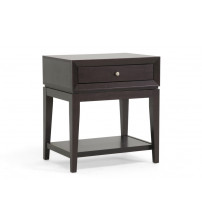 Baxton Studio ST-003-AT Morgan Modern Accent Table and Nightstand in Dark Brown