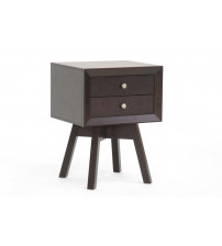 Baxton Studio ST-005-AT Warwick Modern Accent Table and Nightstand in Dark Brown