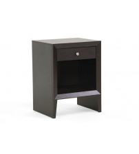 Baxton Studio ST-006-AT Leelanau Modern Accent Table and Nightstand in Dark Brown