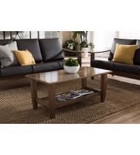 Baxton Studio SW3656-Walnut-M17-CT Pierce Modern Coffee Table