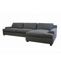 Baxton Studio Fabric Sofa Gray TD0905 (AD066-3) 3pc+chaise