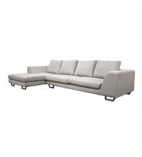 Baxton Studio Fabric 2pc Sectional Grey TD6301-(A359-14A) 2pc Set