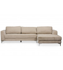 Baxton Studio U9320S-LRBI-RFC Sectional Agnew Right Facing Sectional Sofa