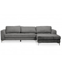 Baxton Studio U9320S-LRCC-RFC Sectional Agnew Right Facing Sectional Sofa