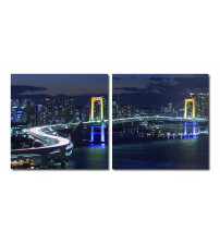 Baxton Studio VC-2097AB Urban Pulse Mounted Photography Print Diptych in Multi