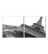 Baxton Studio VC-2114AB Sculptural Majesty Mounted Photography Print Diptych In Black/white