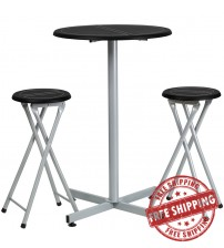 Flash Furniture Bar Height Table and Stool Set YB-YJ987-GG