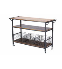 Baxton Studio YLX-0001-KC Lancashire Kitchen Cart