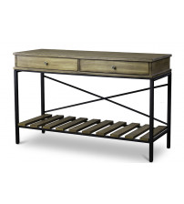 Baxton Studio YLX-0003-AT Newcastle Wood and Metal Console Table