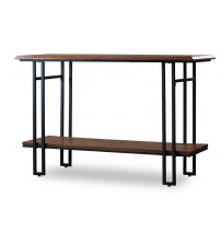 Baxton Studio YLX-2646-ST Newcastle Wood and Metal Console Table